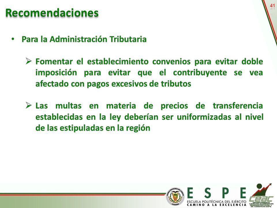Recomendaciones Para la Administración Tributaria