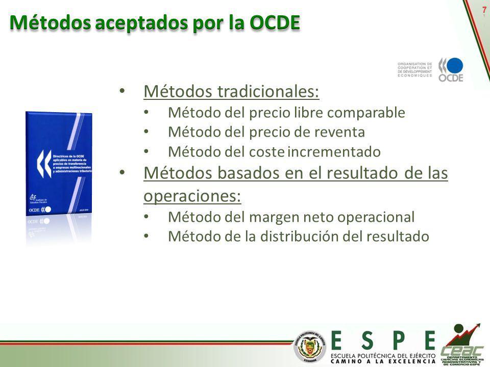 Métodos aceptados por la OCDE