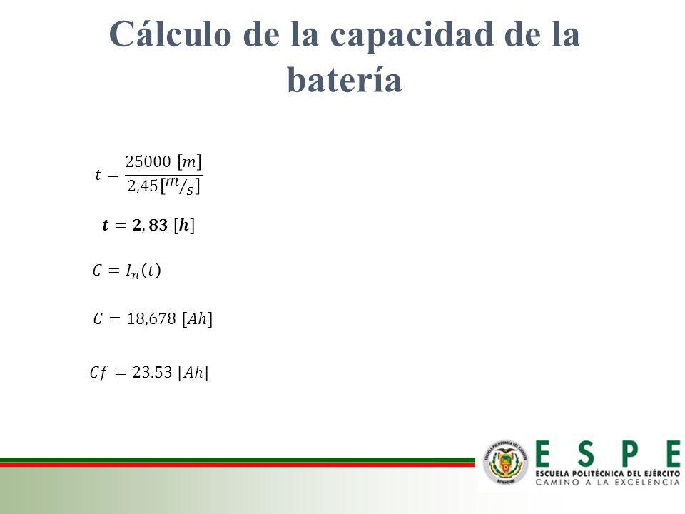 Cálculo de la capacidad de la batería
