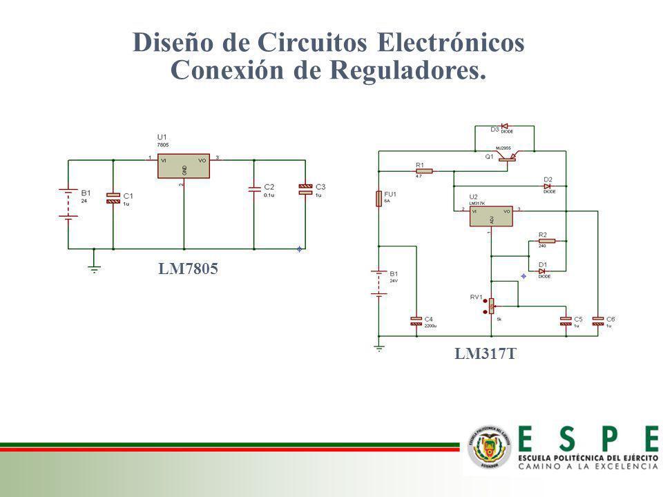 Diseño de Circuitos Electrónicos Conexión de Reguladores.