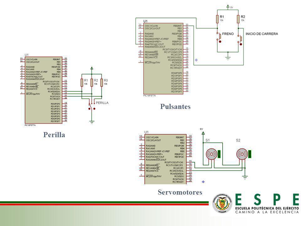 Pulsantes Perilla Servomotores