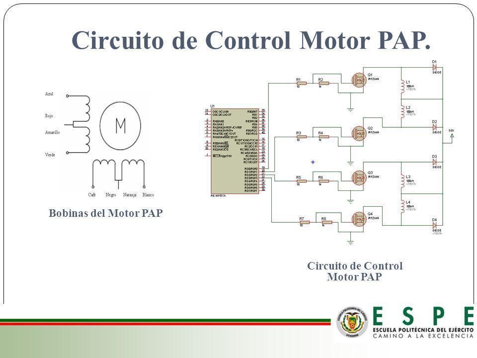 Circuito de Control Motor PAP. Circuito de Control Motor PAP