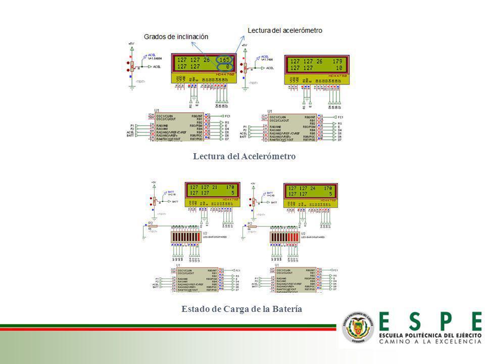 Lectura del Acelerómetro Estado de Carga de la Batería