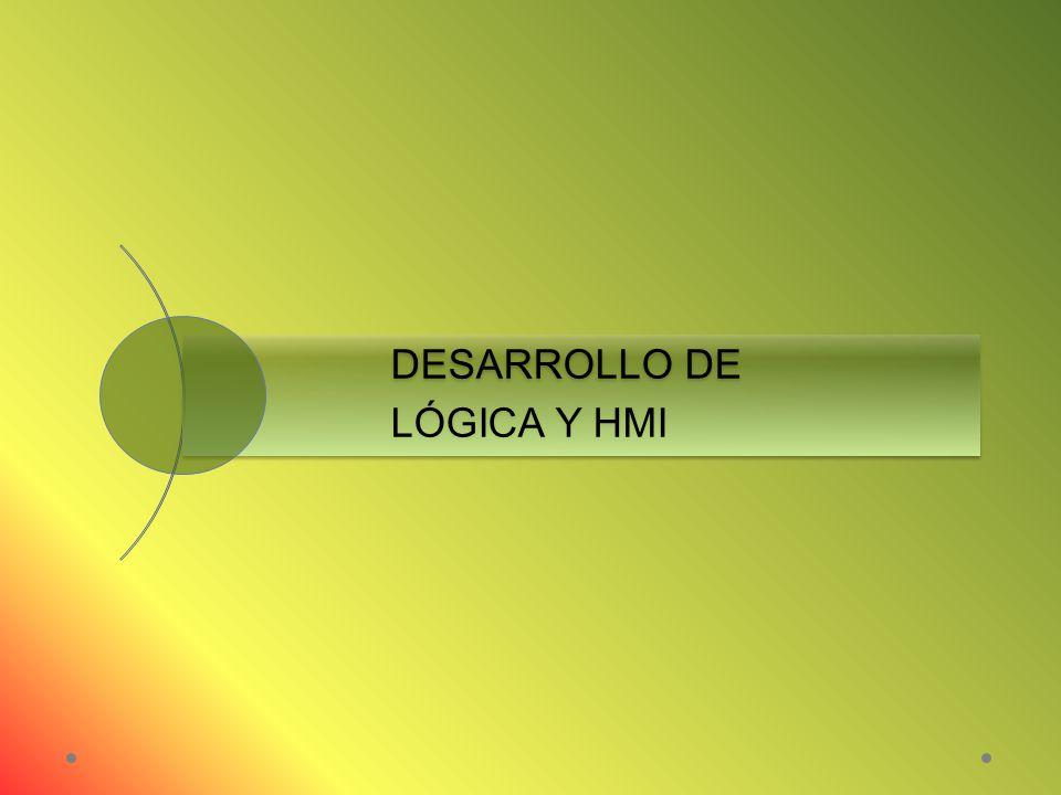 DESARROLLO DE LÓGICA Y HMI