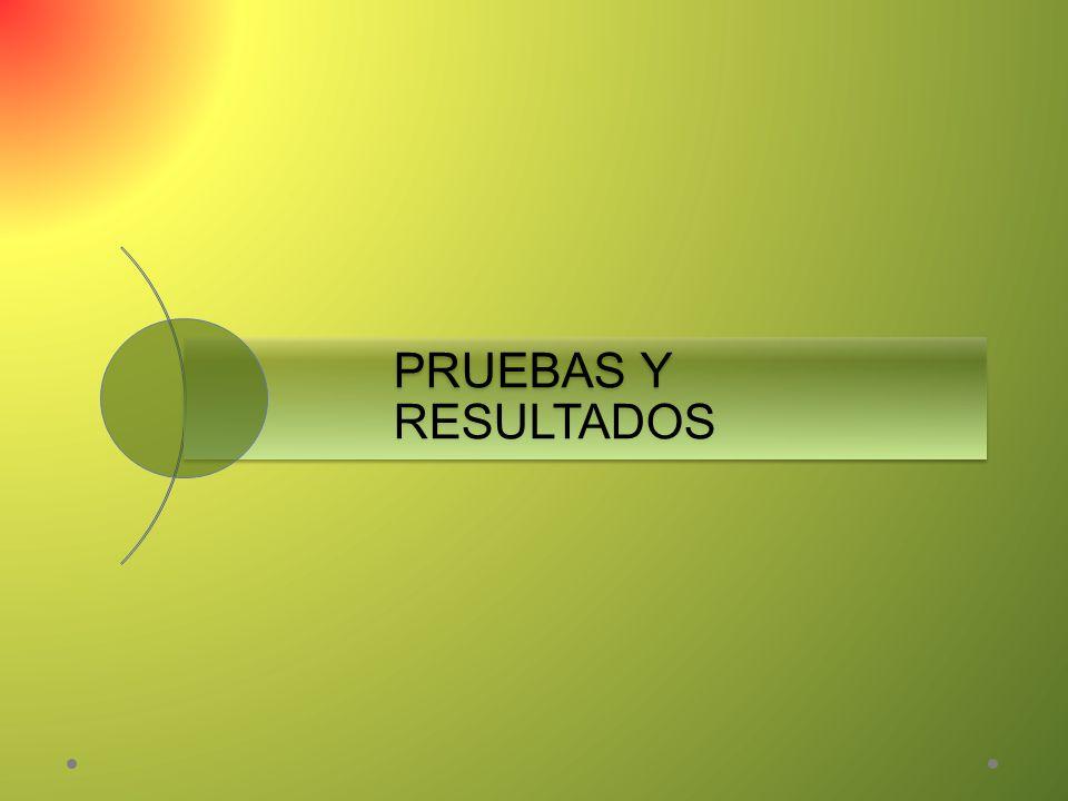PRUEBAS Y RESULTADOS