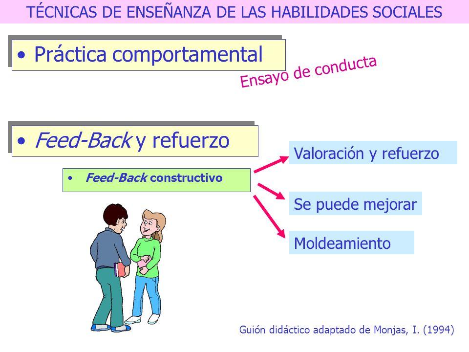 TÉCNICAS DE ENSEÑANZA DE LAS HABILIDADES SOCIALES