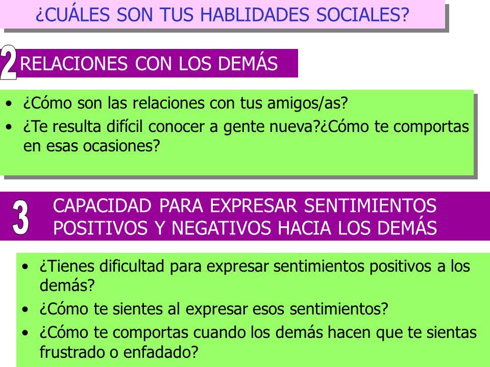2 3 ¿CUÁLES SON TUS HABLIDADES SOCIALES RELACIONES CON LOS DEMÁS