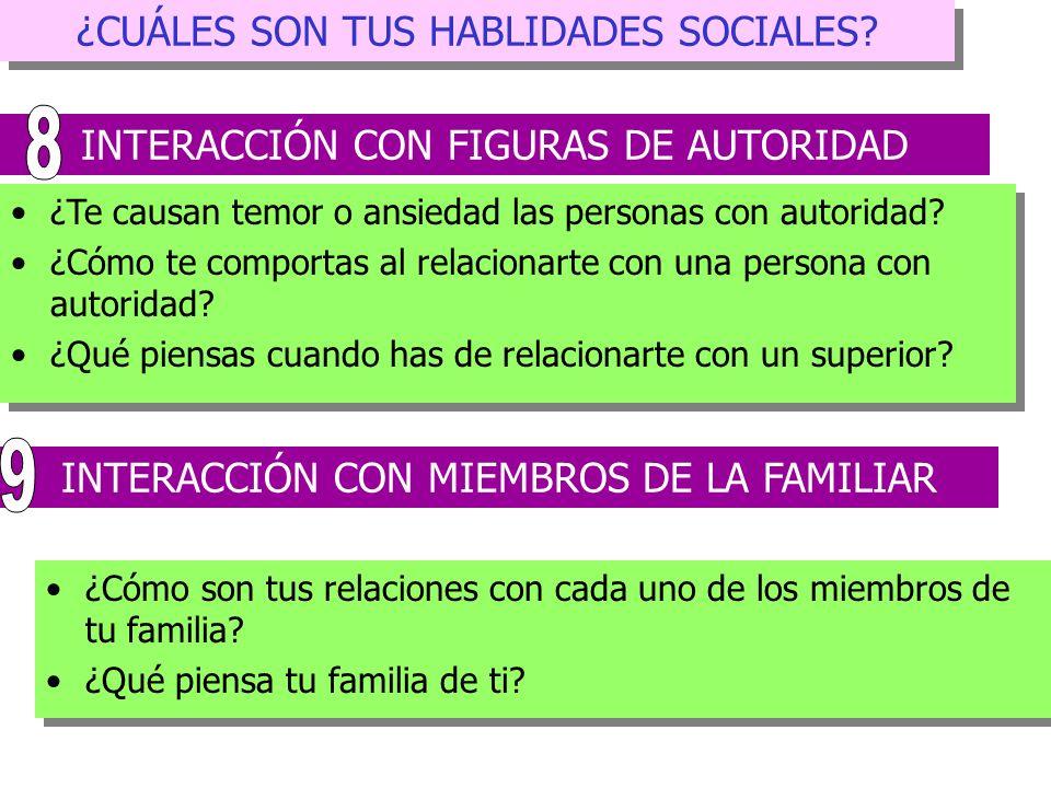 8 9 ¿CUÁLES SON TUS HABLIDADES SOCIALES