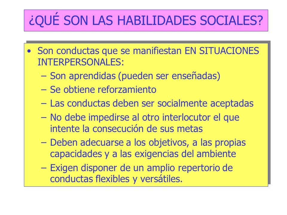 ¿QUÉ SON LAS HABILIDADES SOCIALES