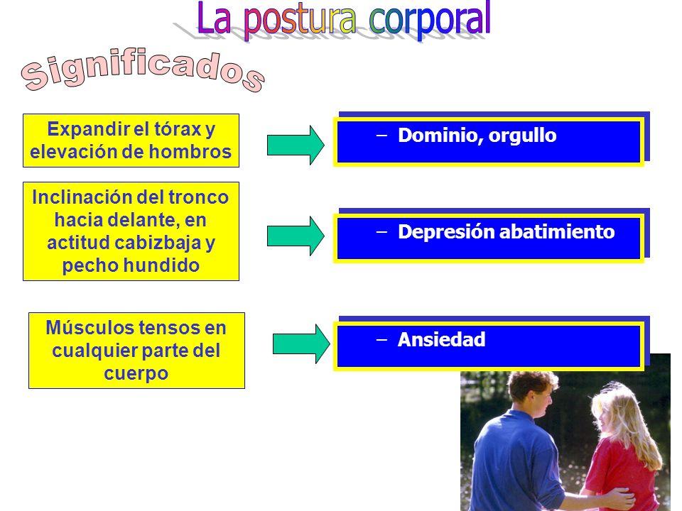 La postura corporal Significados