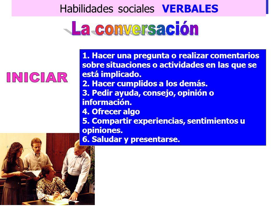 Habilidades sociales VERBALES