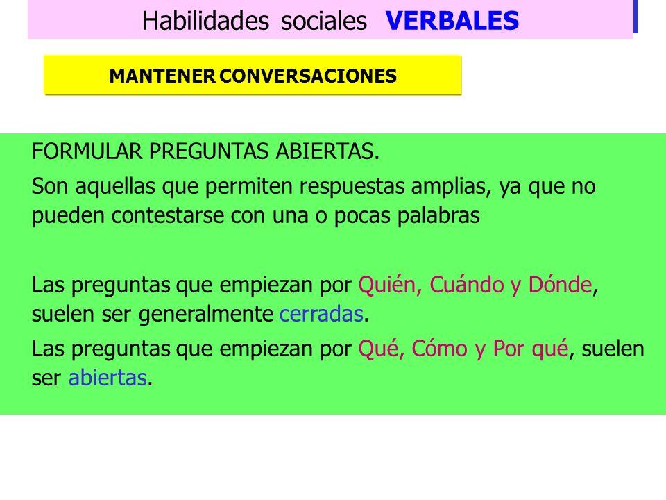 MANTENER CONVERSACIONES
