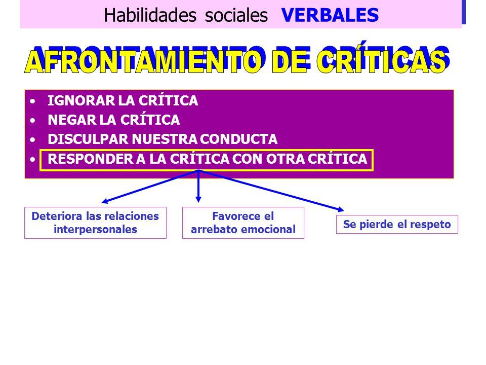 AFRONTAMIENTO DE CRÍTICAS