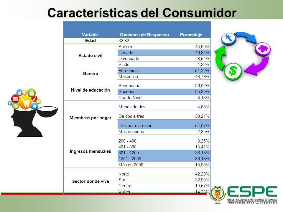 Características del Consumidor