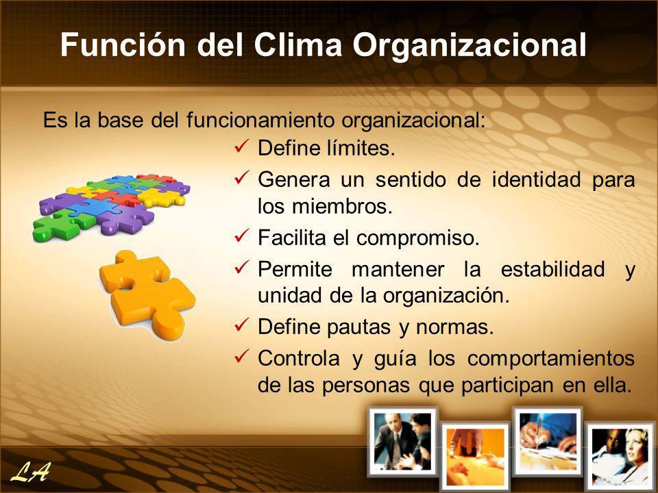 Función del Clima Organizacional