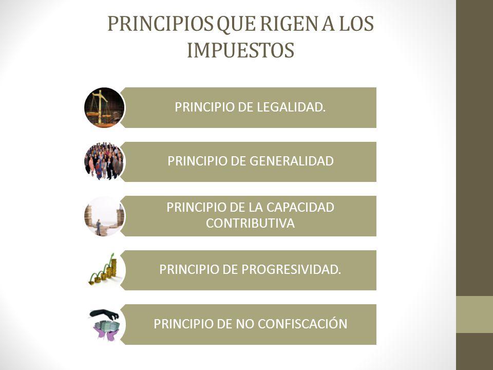 PRINCIPIOS QUE RIGEN A LOS IMPUESTOS