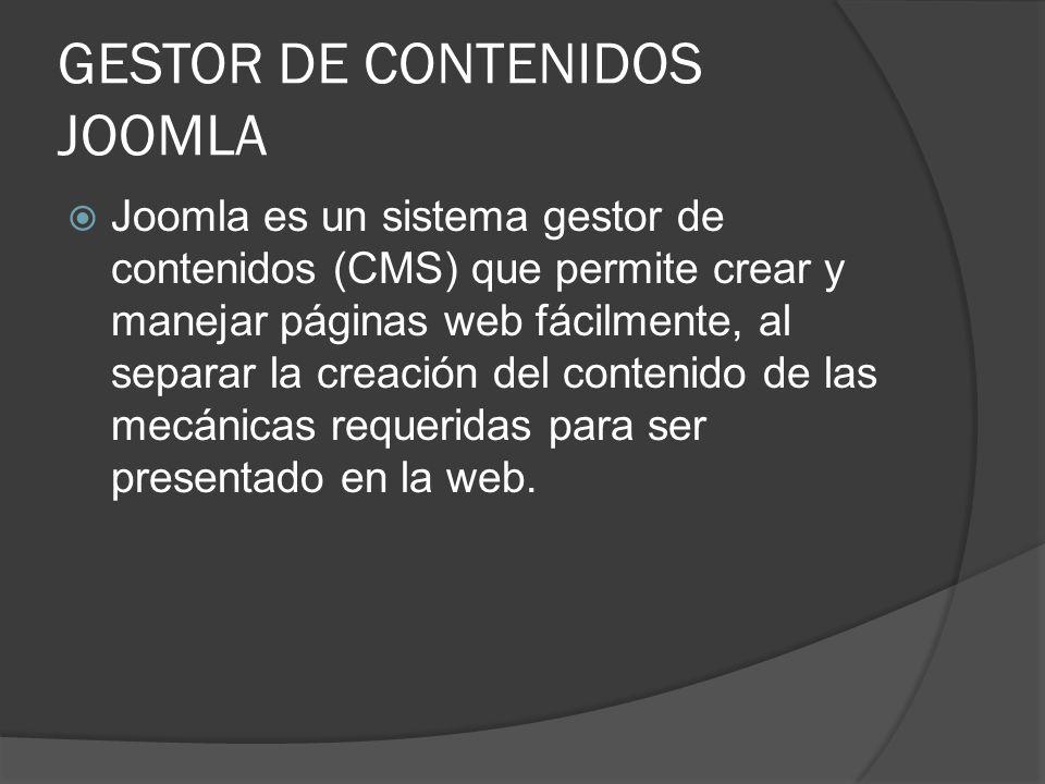 GESTOR DE CONTENIDOS JOOMLA