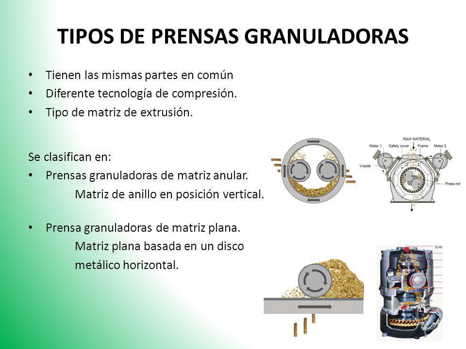 TIPOS DE PRENSAS GRANULADORAS