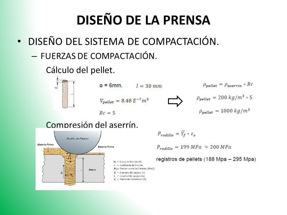 DISEÑO DE LA PRENSA DISEÑO DEL SISTEMA DE COMPACTACIÓN.