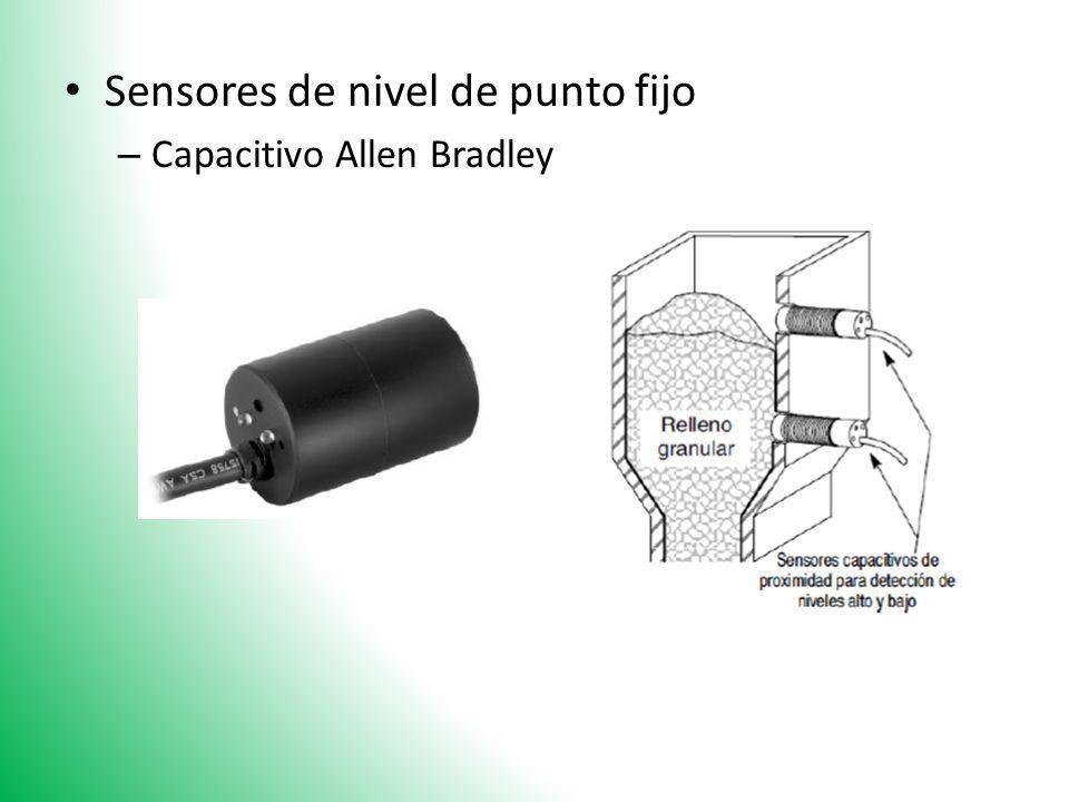 Sensores de nivel de punto fijo