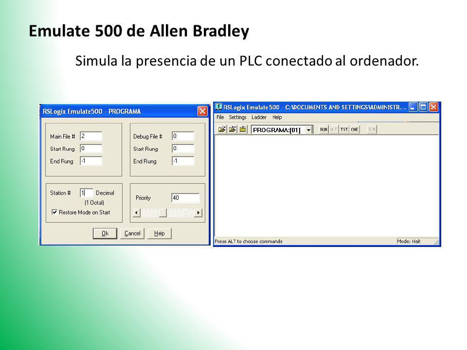 Simula la presencia de un PLC conectado al ordenador.