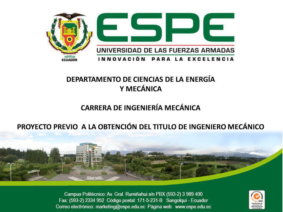 DEPARTAMENTO DE CIENCIAS DE LA ENERGÍA