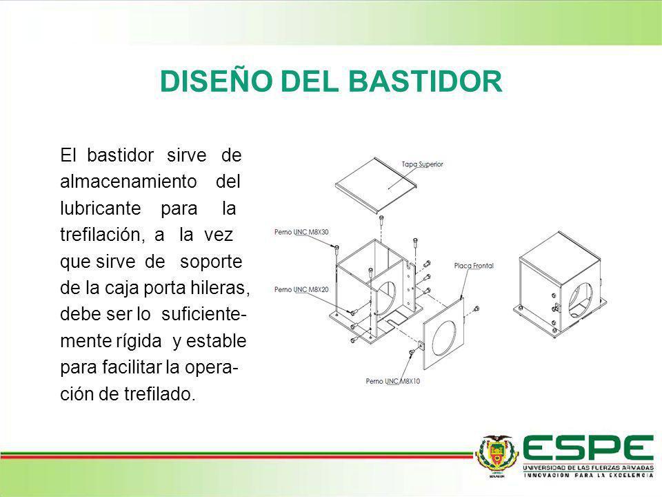 DISEÑO DEL BASTIDOR