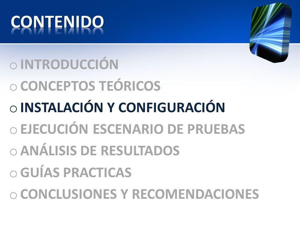 CONTENIDO INTRODUCCIÓN CONCEPTOS TEÓRICOS INSTALACIÓN Y CONFIGURACIÓN