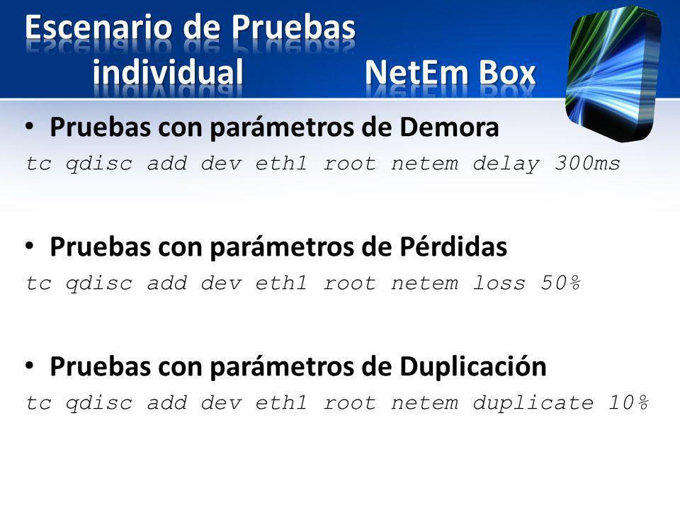 Escenario de Pruebas individual NetEm Box