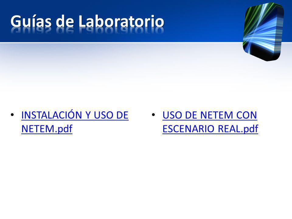 Guías de Laboratorio INSTALACIÓN Y USO DE NETEM.pdf