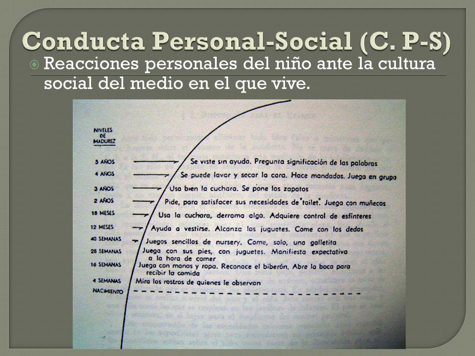 Conducta Personal-Social (C. P-S)