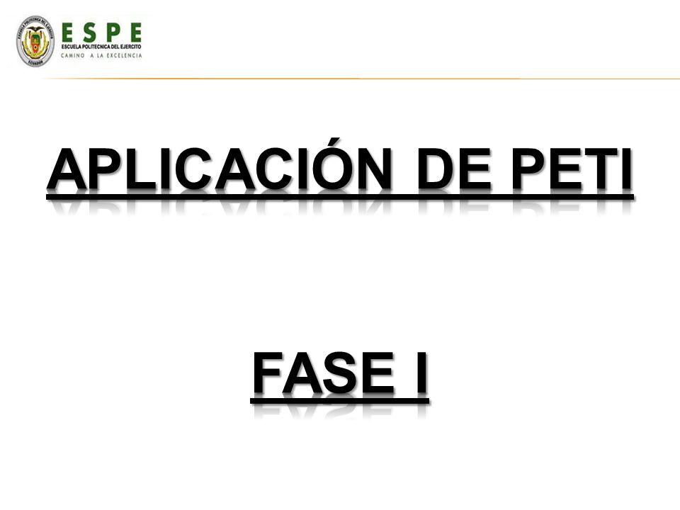 Aplicación de peti FASE I