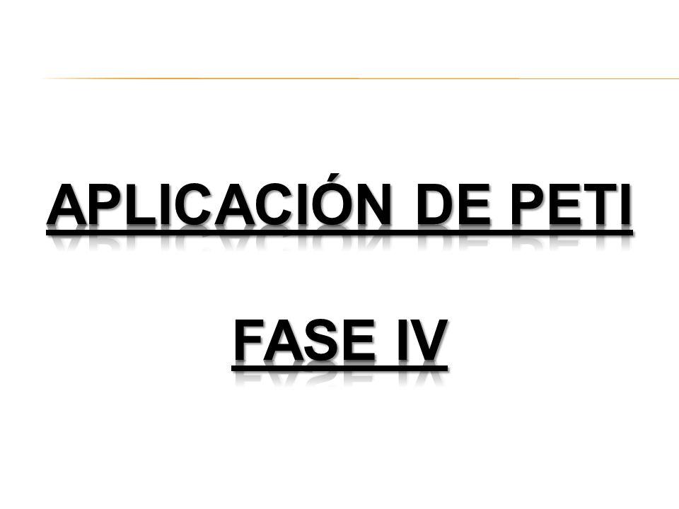 Aplicación de peti FASE IV