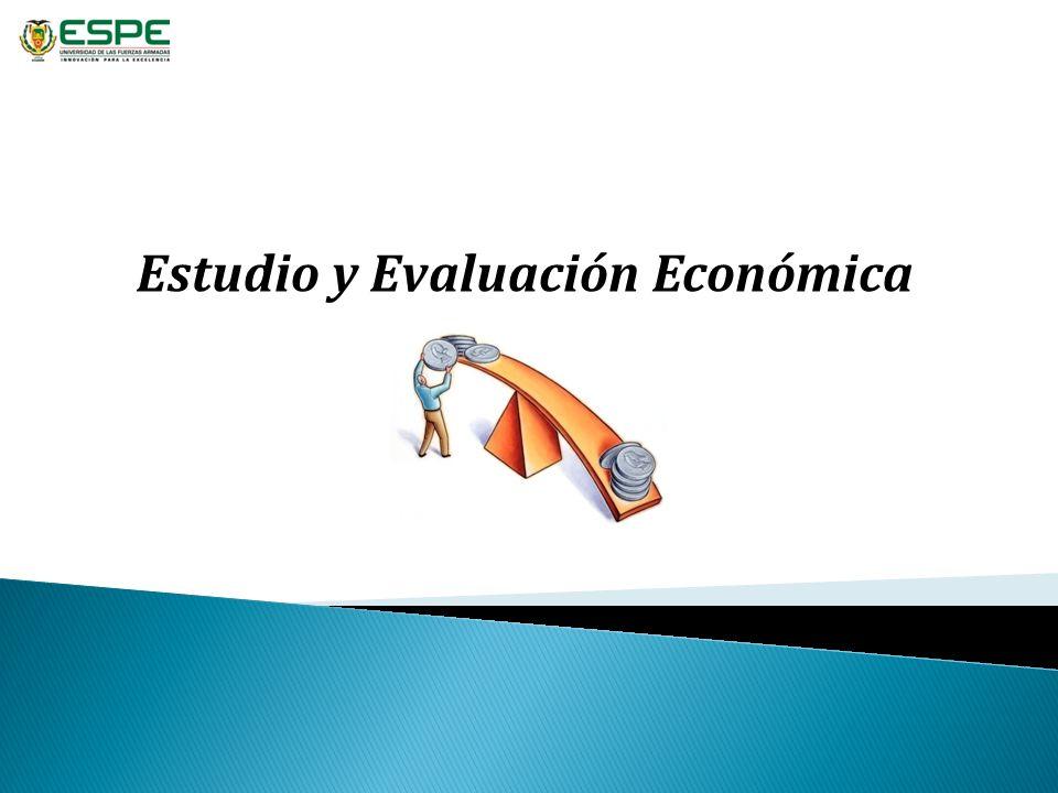 Estudio y Evaluación Económica