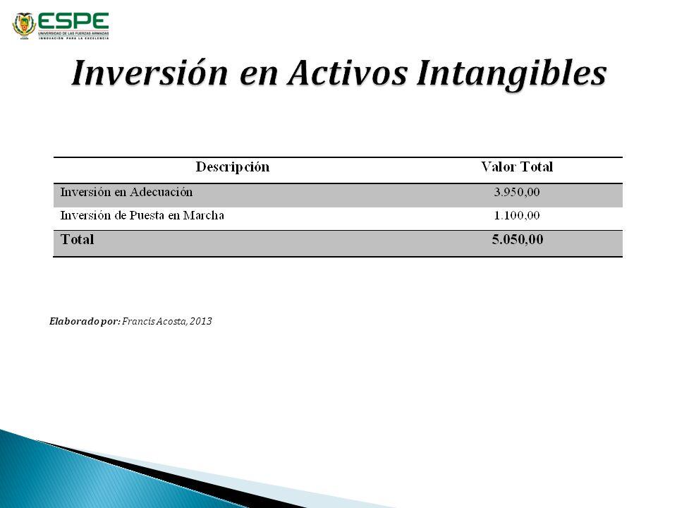 Inversión en Activos Intangibles