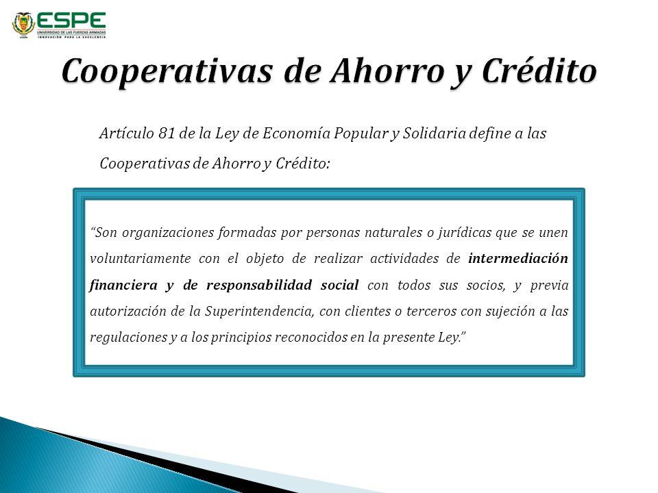 Cooperativas de Ahorro y Crédito
