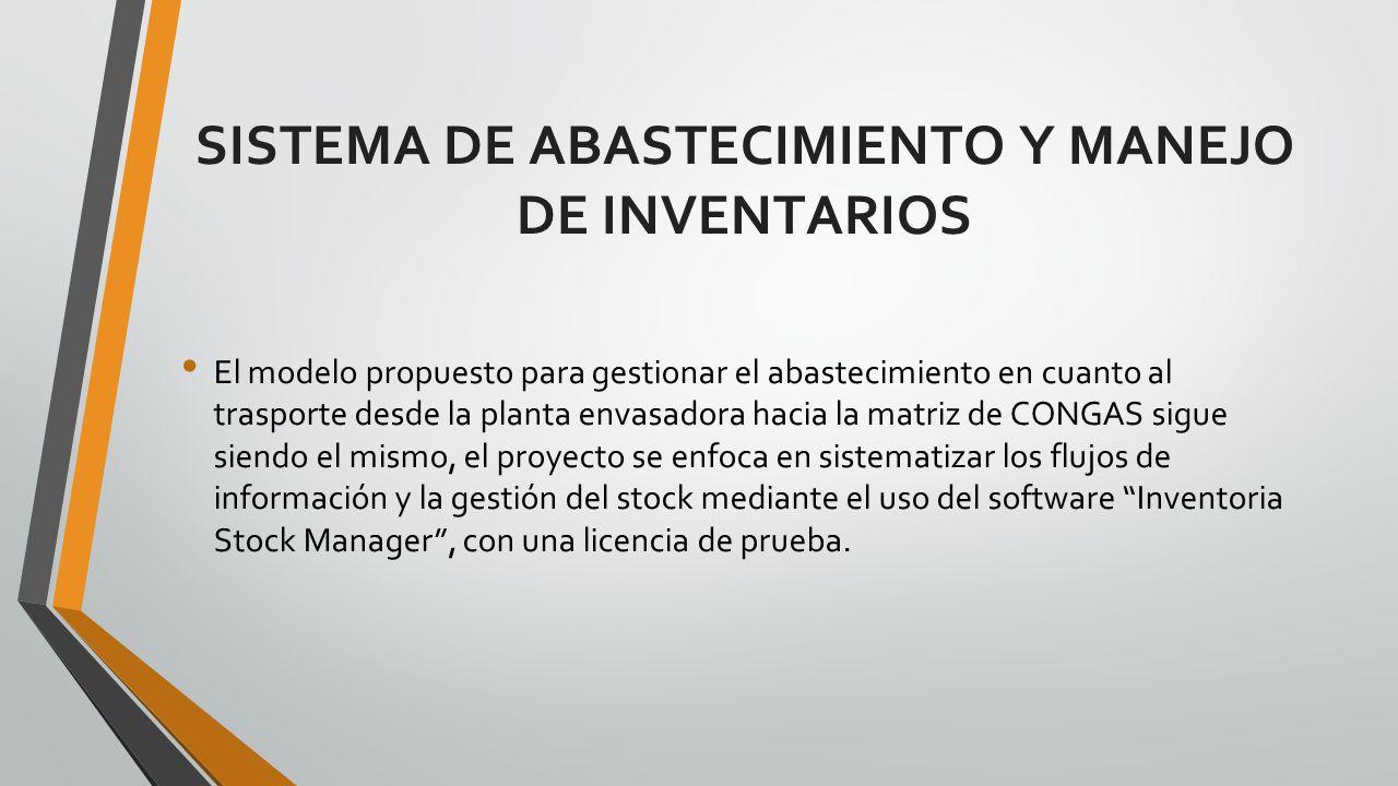SISTEMA DE ABASTECIMIENTO Y MANEJO DE INVENTARIOS