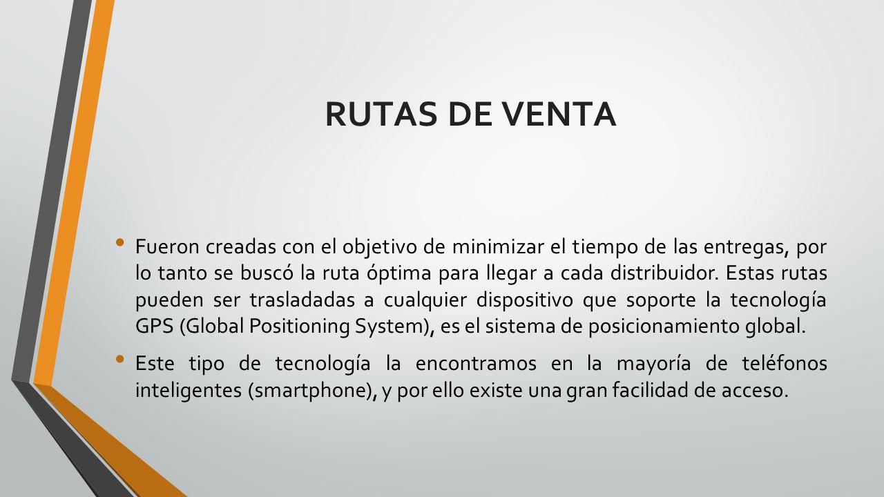 RUTAS DE VENTA