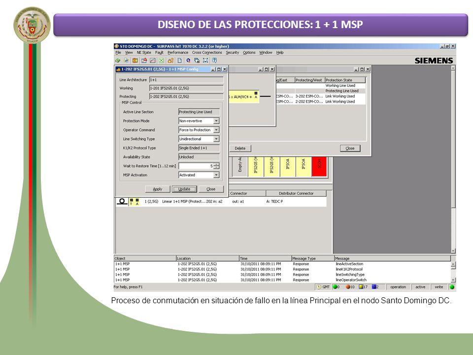 DISENO DE LAS PROTECCIONES: 1 + 1 MSP