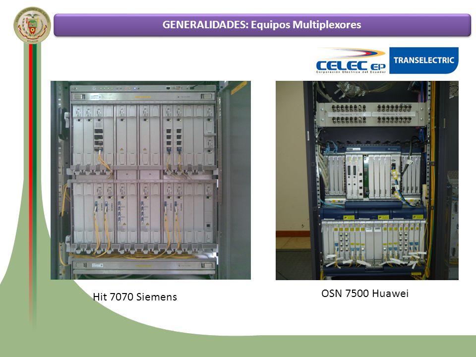 GENERALIDADES: Equipos Multiplexores