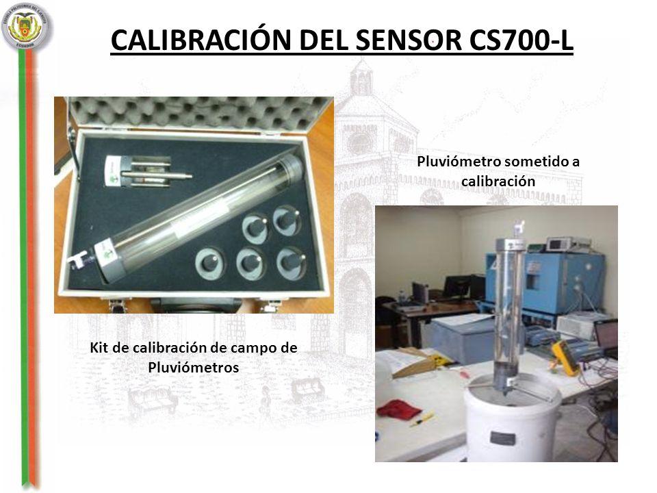CALIBRACIÓN DEL SENSOR CS700-L