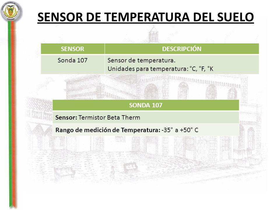 SENSOR DE TEMPERATURA DEL SUELO