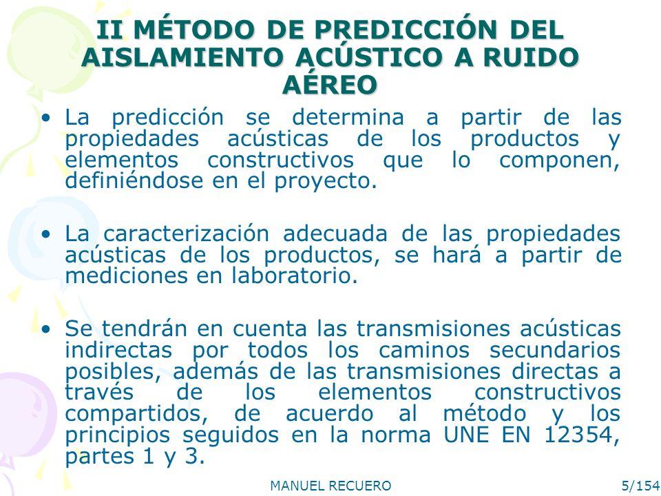 II MÉTODO DE PREDICCIÓN DEL AISLAMIENTO ACÚSTICO A RUIDO AÉREO