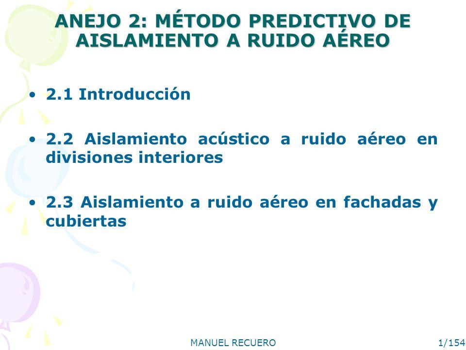 ANEJO 2: MÉTODO PREDICTIVO DE AISLAMIENTO A RUIDO AÉREO