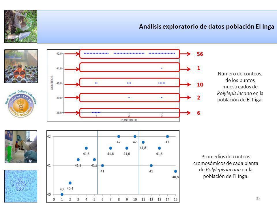 Análisis exploratorio de datos población El Inga