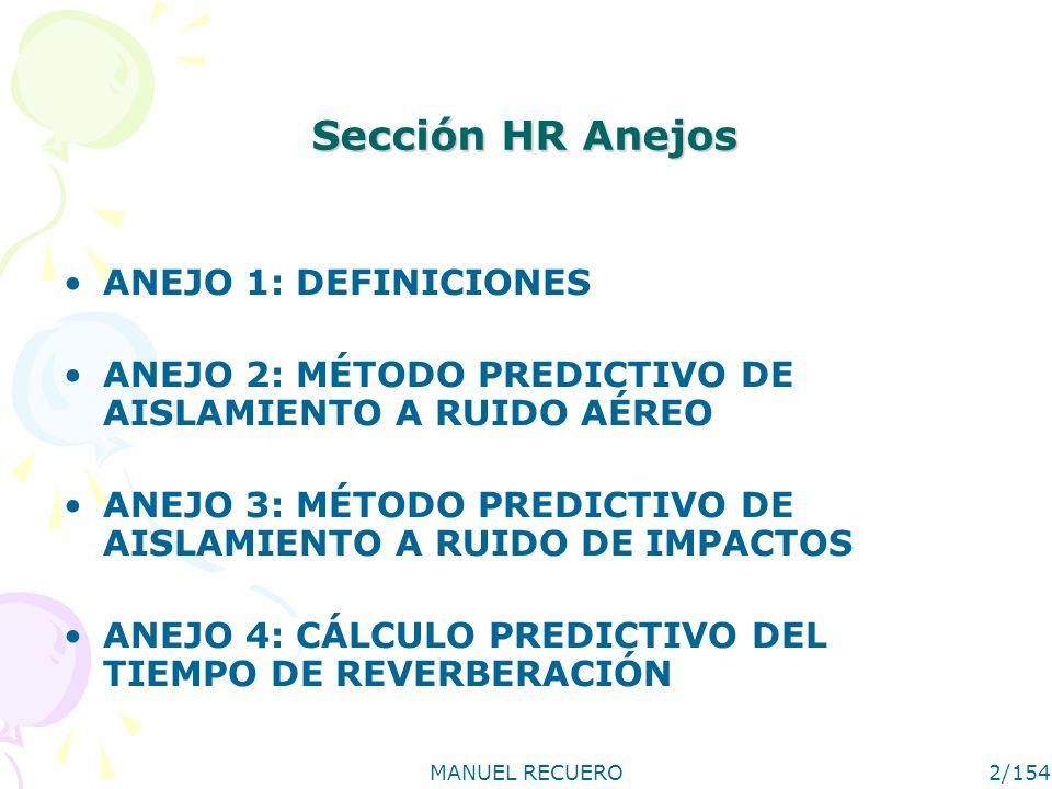 Sección HR Anejos ANEJO 1: DEFINICIONES