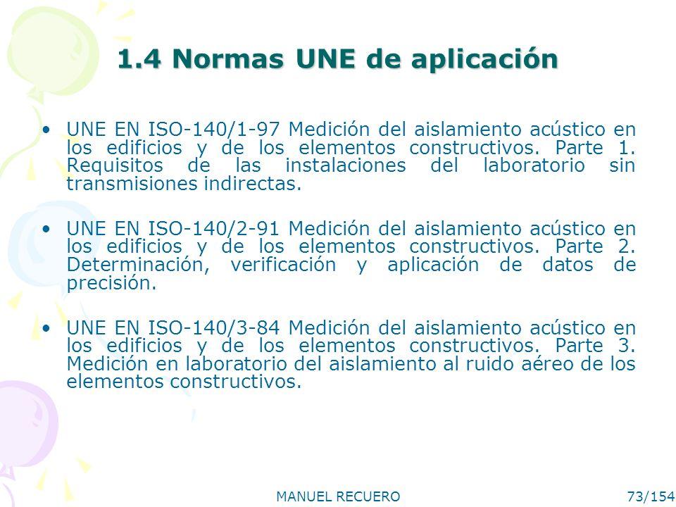 1.4 Normas UNE de aplicación