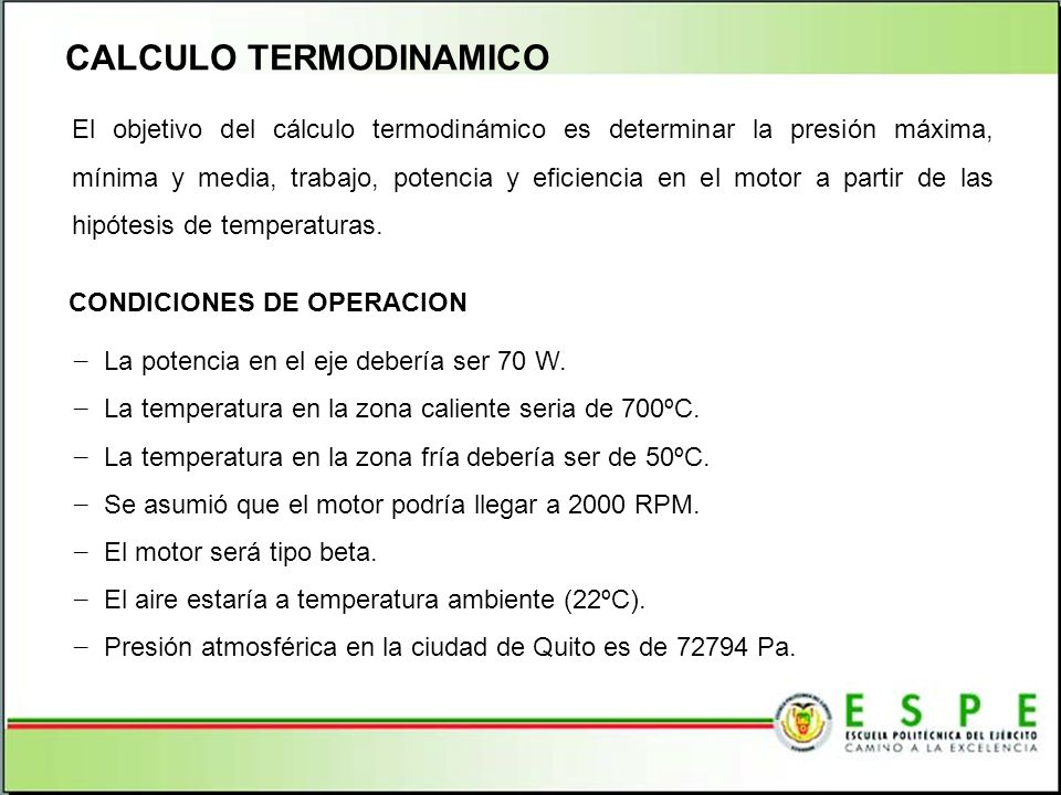 CALCULO TERMODINAMICO