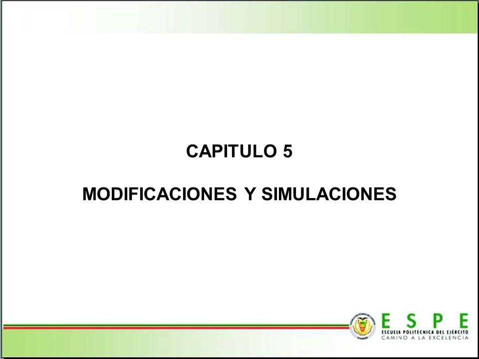CAPITULO 5 MODIFICACIONES Y SIMULACIONES