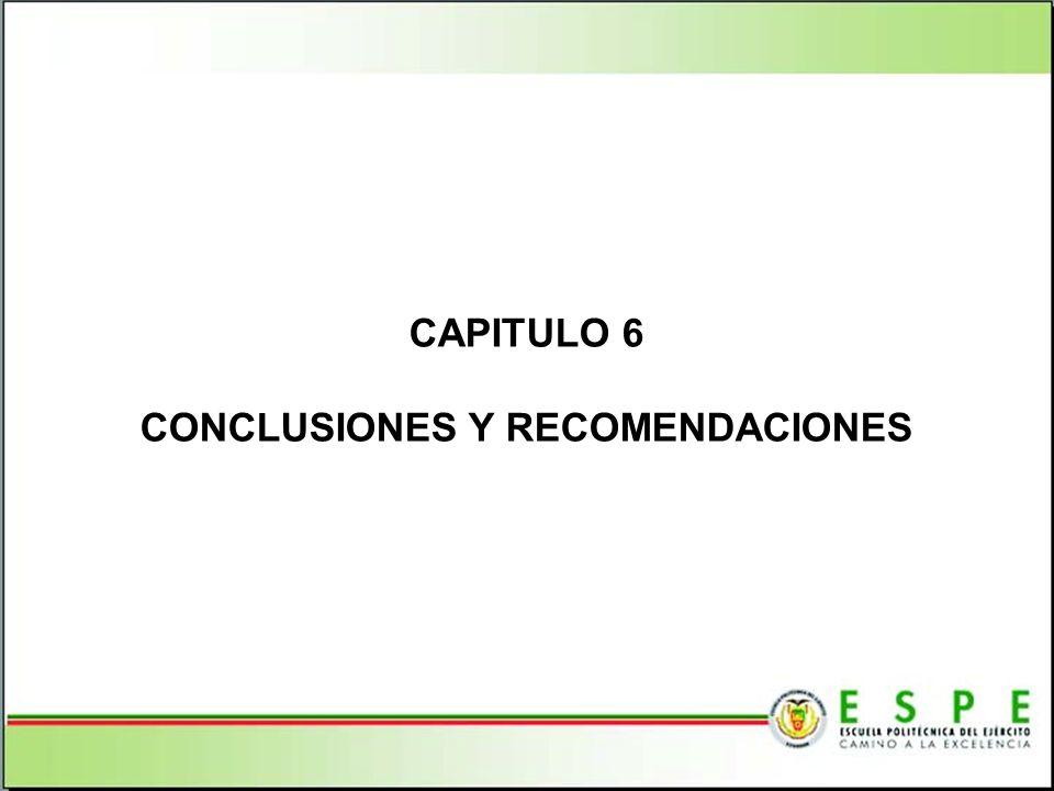 CAPITULO 6 CONCLUSIONES Y RECOMENDACIONES